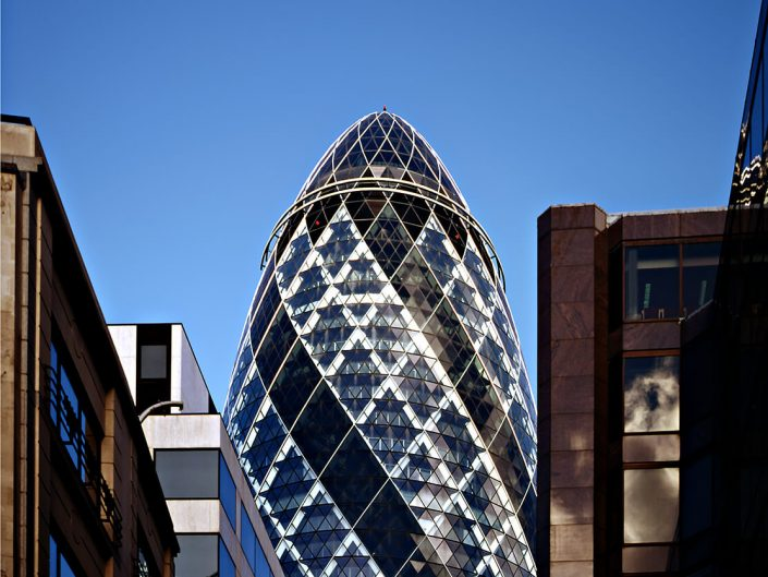 20 St Mary Axe, London UK - Image: Analogue 000076-06, Architects Foster + Partners, Bronica GS-1 Fuji Chrome Film