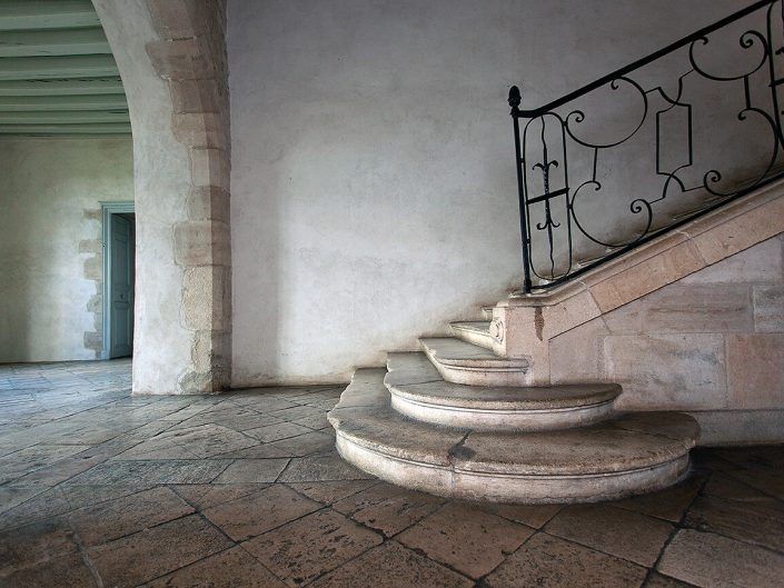 Abbaye de Noirlac, France - Image: 4045, Staircase Detail, Berry Province France.