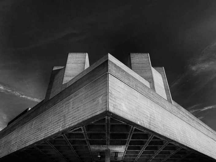 National Theatre, London, England - Image: BW 0006 South Bank, Brutalist Architecture.