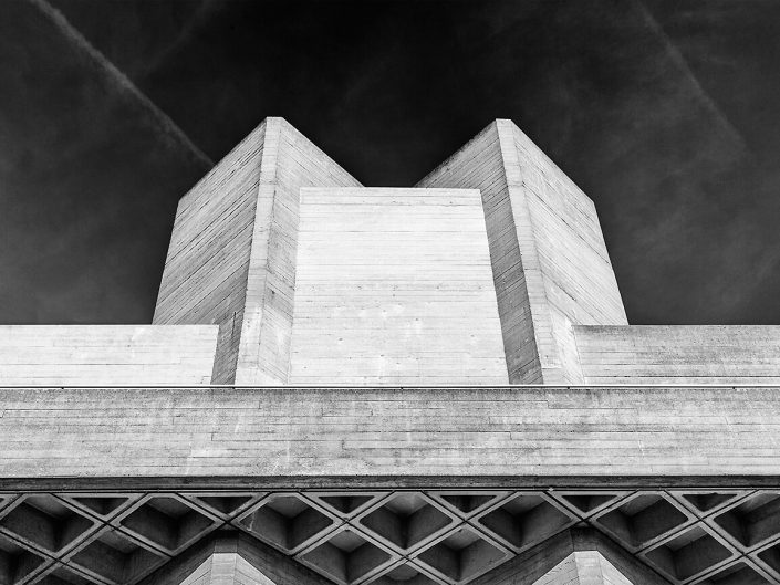 National Theatre, London, England - Image: BW 0009 South Bank, Brutalist Architecture Black & White