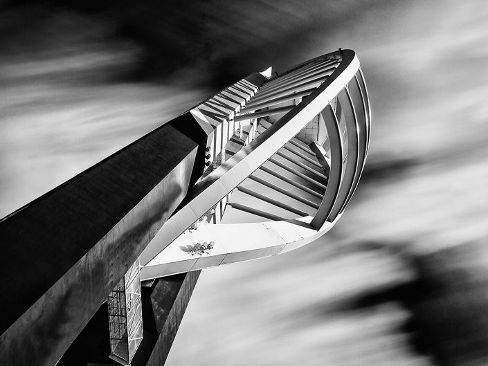 Spinnaker Tower, Portsmouth, England - Image: BW 0798 Side elevation, Black / White