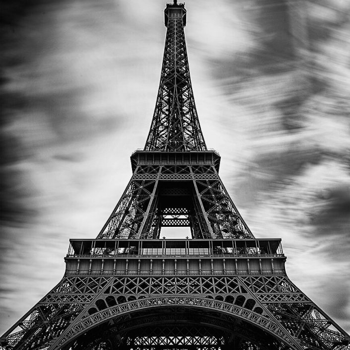 Eiffel Tower, Paris, France - Black and White, Long Exposure, Image: BW-1152