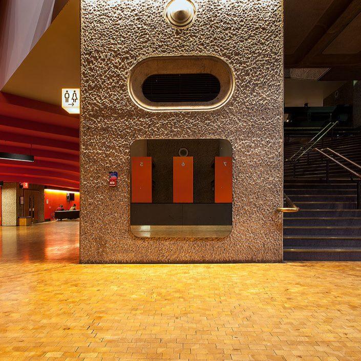 Barbican Centre London - Image: 0164 - Colour Long Exposure, Concert Hall, Ground Floor, Brutalist Architecture