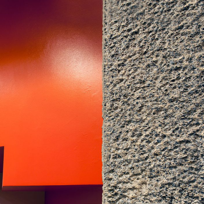 Barbican Centre London, England - Image: 0182, Colour Long Exposure, Concert Hall, Ground Floor, Brutalist Architecture
