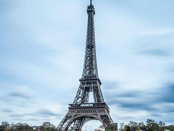 Eiffel Tower, Paris, Pont d'lena, France, colour, Long Exposure.