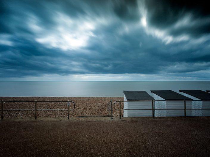Bexhill On Sea, Seascape, Beach huts, Promenade Architecture, Beach Huts, Sussex England- Image: 0437